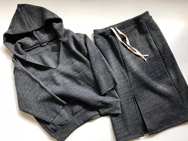 カルベリーズ スウェットパーカー スカート.jpg