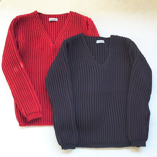 アイディーデイリーウェア narrow sliver?lilyyarn v neck knit.jpg