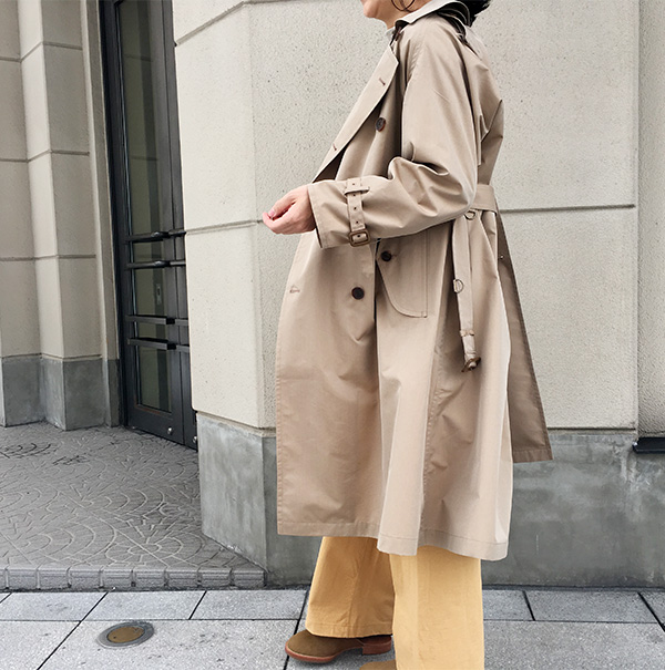 オーラリー FINX POLYESTER BIG TRENCH COAT BEIGE CHAMBRAY.jpg