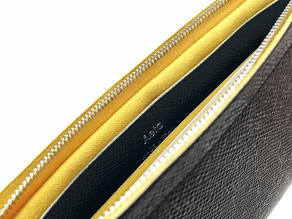 Aeta bicolor wallet M ブラック×イエロー.jpg