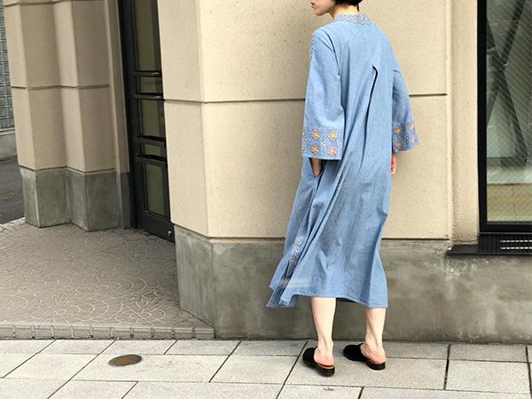 ロンハーマン デニム刺繍ワンピース.jpg