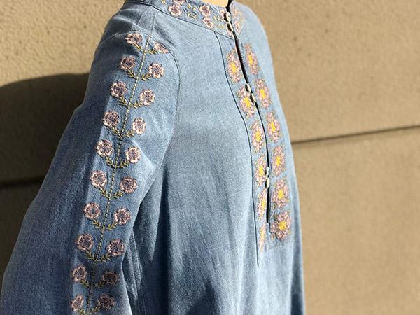 ロンハーマンのデニム刺繍ワンピース.jpg