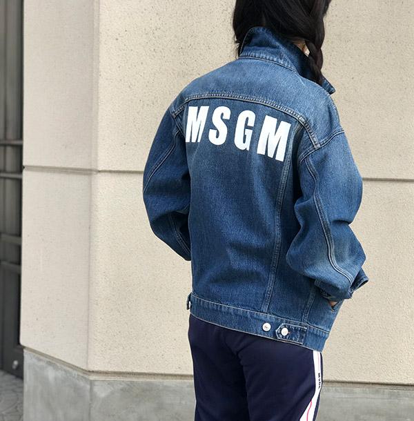 MSGM Gジャン インディゴ プリント入り.jpg