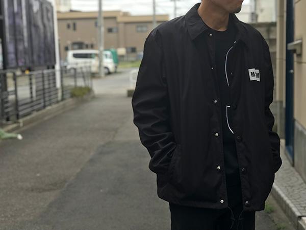 MSGM メンズ コーチジャケット ブラック.jpg