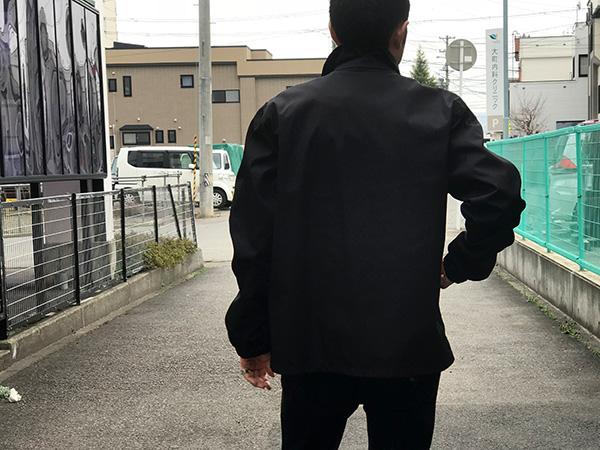 MSGM メンズコーチジャケット ブラック.jpg