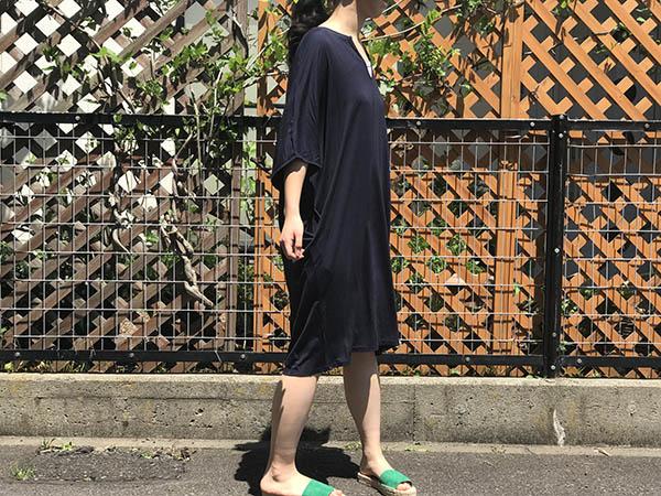 barefoot dreams  luxe milk jersey Short Caftan indigo.jpg