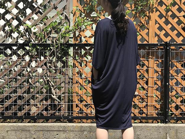 barefoot dreams  luxe milk jersey ワンピース インディゴ.jpg