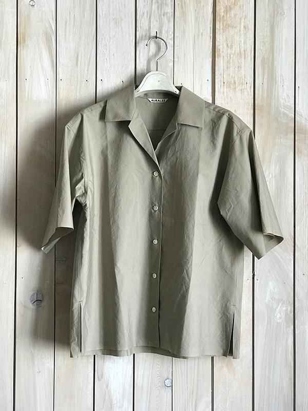 オーラリー 半そでシャツ グレーベージュ.jpg