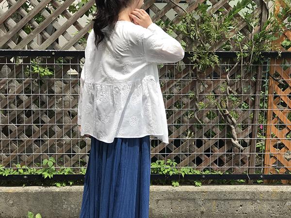 ブルーブルージャパン  リーフサークルシシュウカシュクール ホワイト.jpg