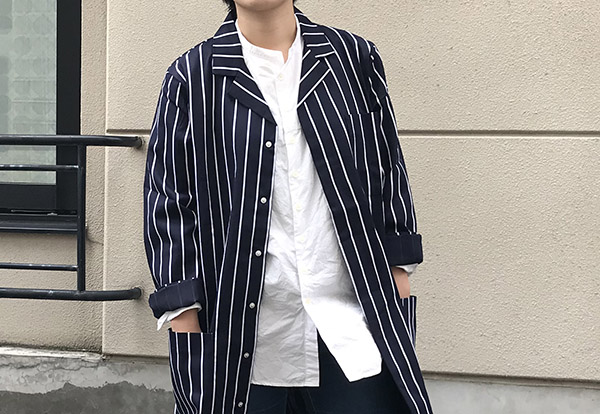Alexandra stripe work coat.jpg