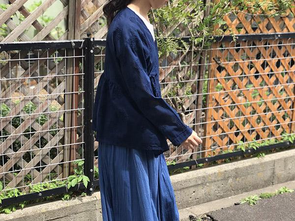 ブルーブルー カシュクールシャツ.jpg