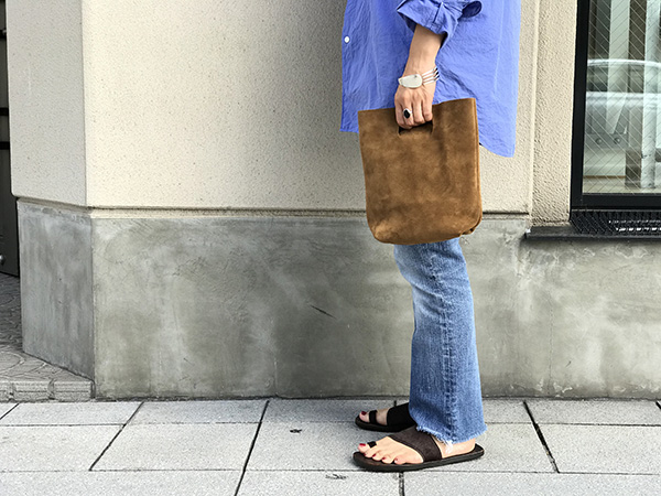 エンダースキーマ not eco bag small camel.jpg