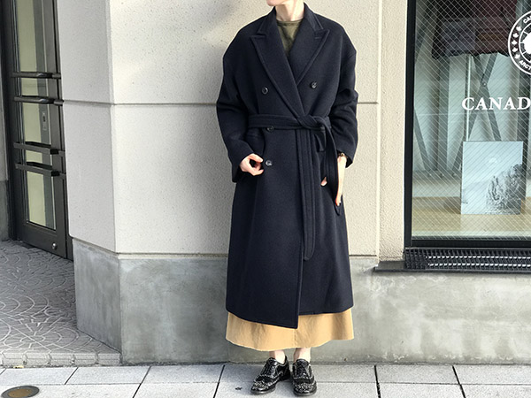 AURALEE CASHMERE WOOL MOSSER DOUBLE BREASTED COAT ネイビー.jpg