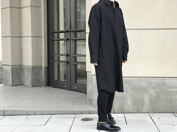 Acne Studios shirt dress ブラック.jpg