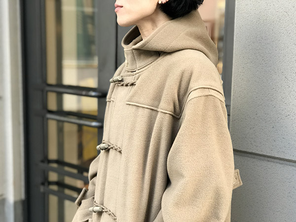 オーラリー CASHMERE WOOL MOSSER BIG DUFFLE COAT カーキベージュ.jpg