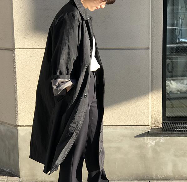 POLYPLOID ステンカラーコート ブラック.jpg