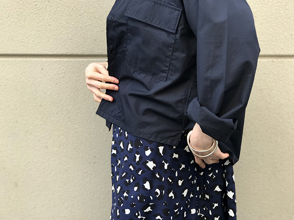 WELLDER Flap Pocket Boxy Shirt NAVY.jpg