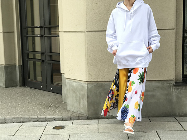 MSGM プリーツスカート マルチカラー.jpg