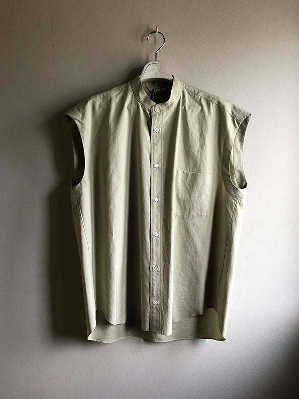 オーラリー ノースリーブシャツ ライトグリーン.jpg