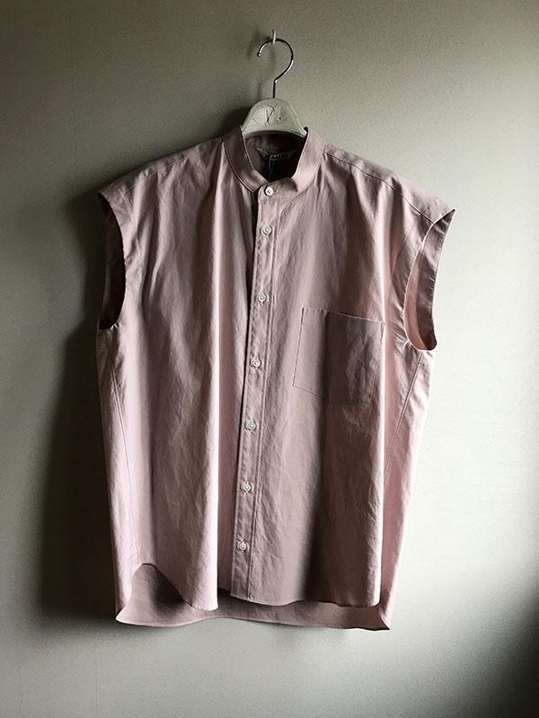 オーラリー ノースリーブシャツ ライトピンク.jpg