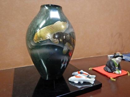 鯉川温泉 陶器の鯉_171016.JPG