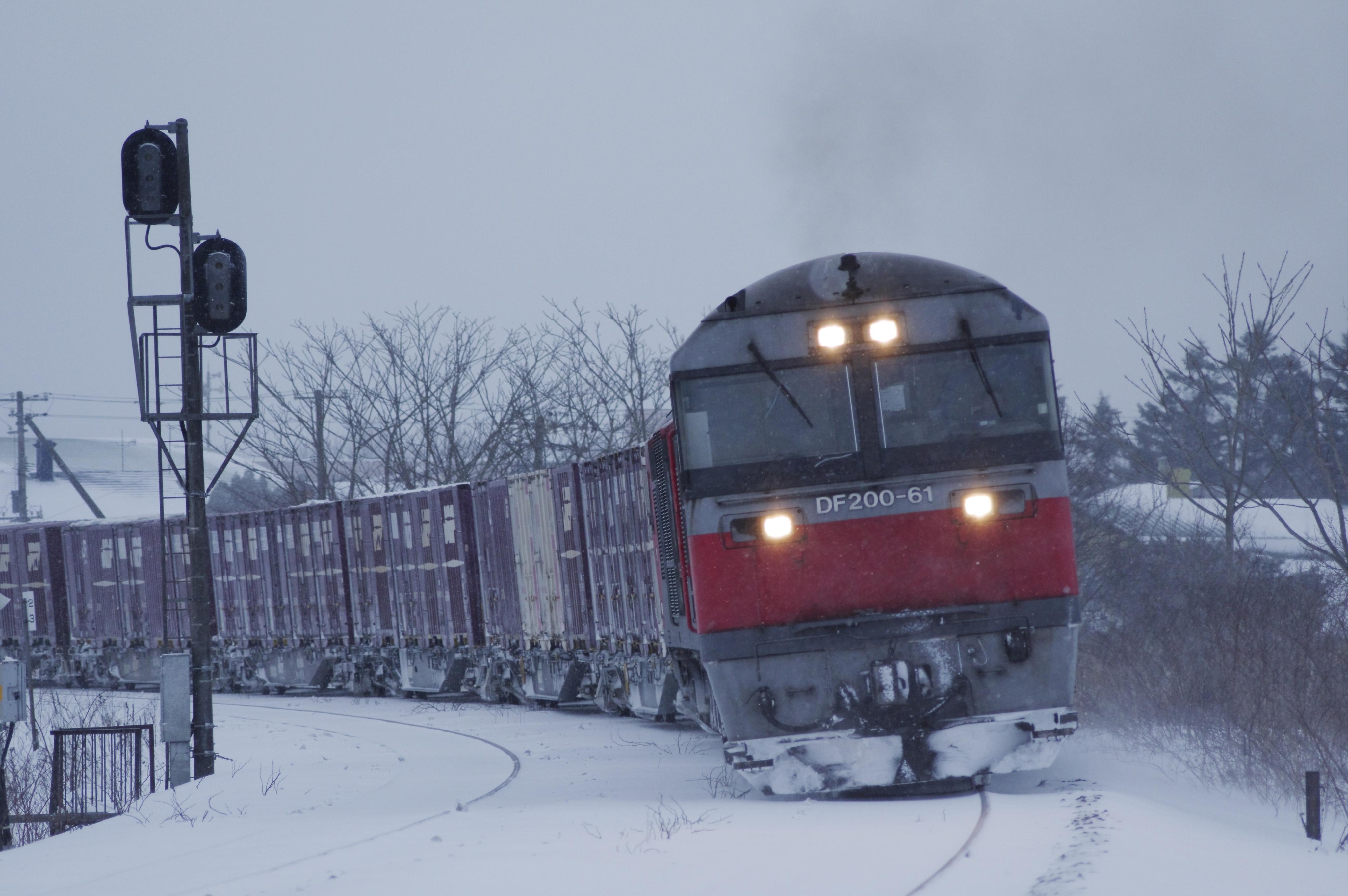 小幌ー礼文 大学沢道路踏切 貨物列車_180204.jpg