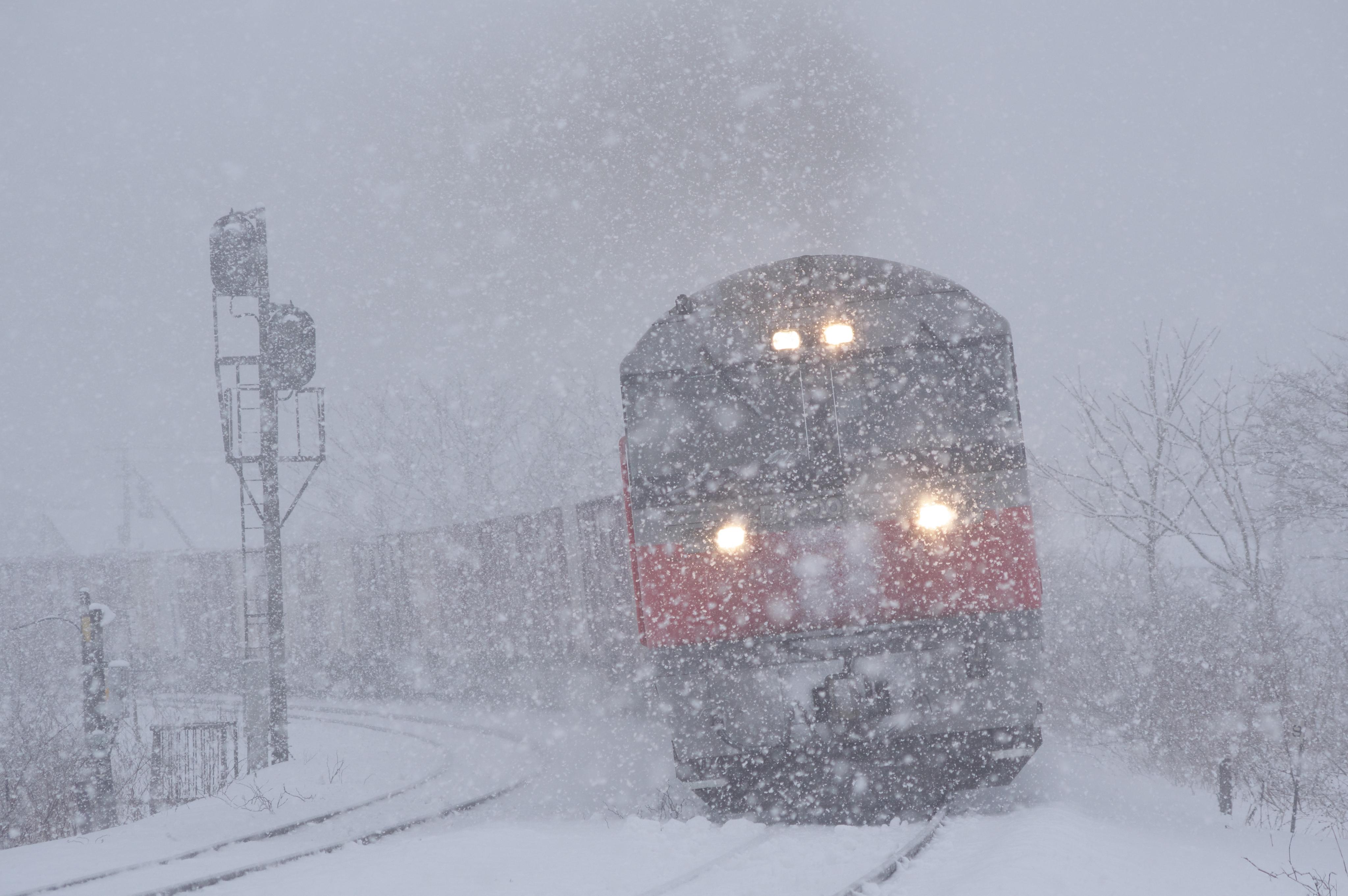 礼文ー小幌 大学沢道路踏切 3084レ 貨物列車_180210.jpg