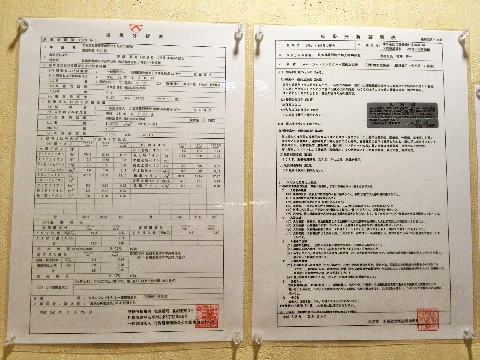 豊浦温泉 しおさい 温泉分析書.JPG