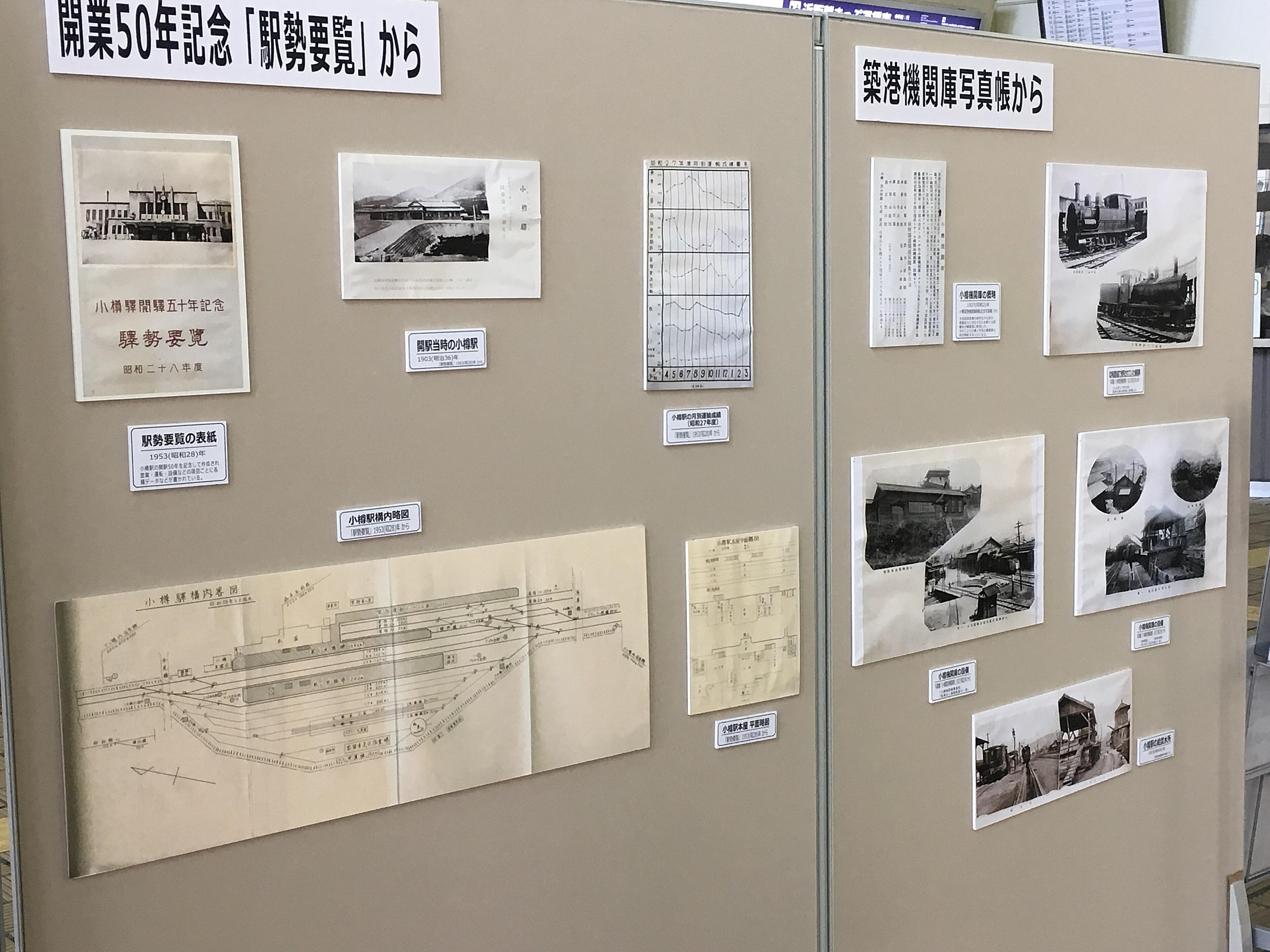 小樽駅開駅115周年イベント 展示1_180715.JPG