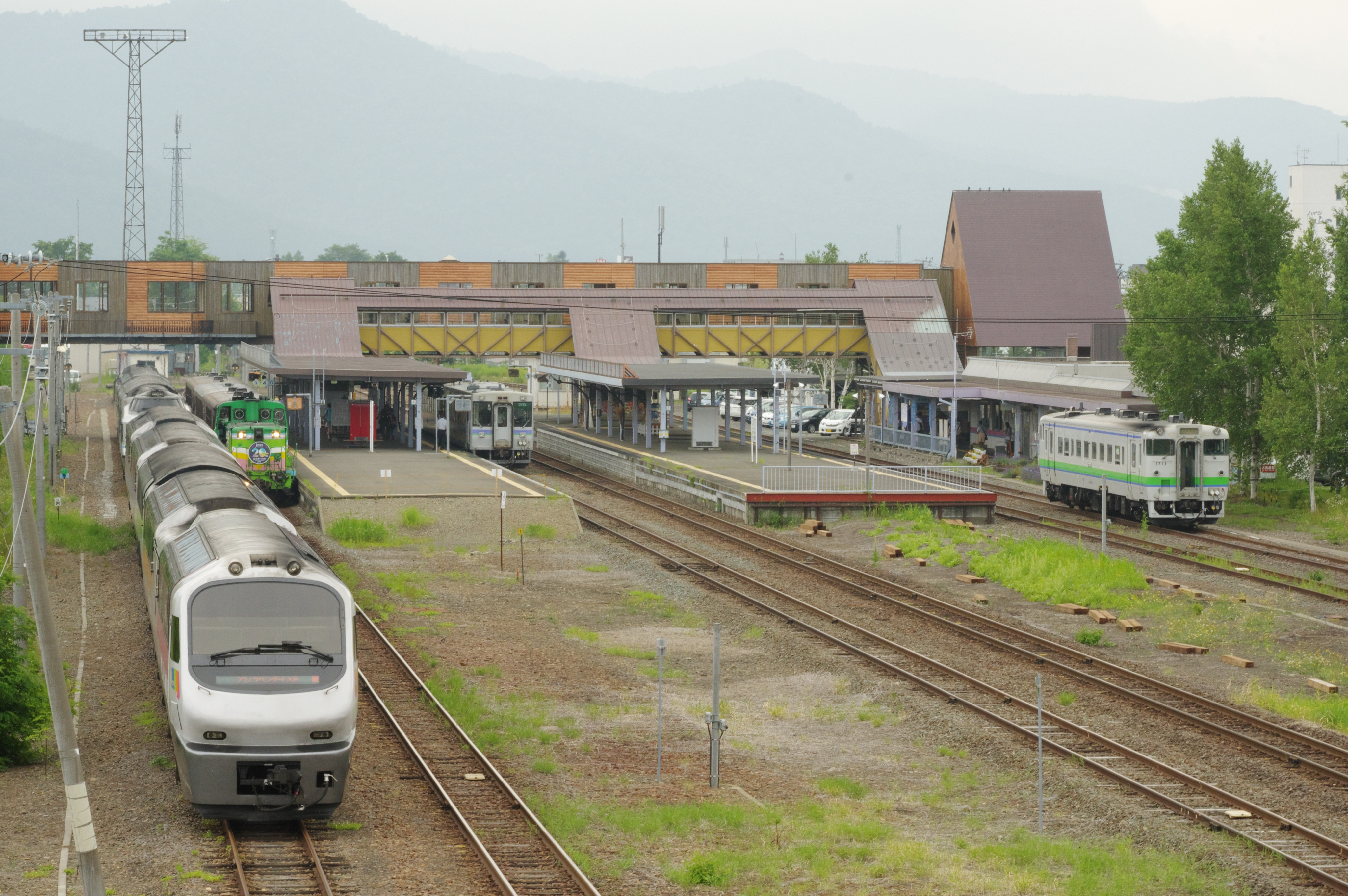 富良野駅 5種揃い踏み_180721 (1).jpg
