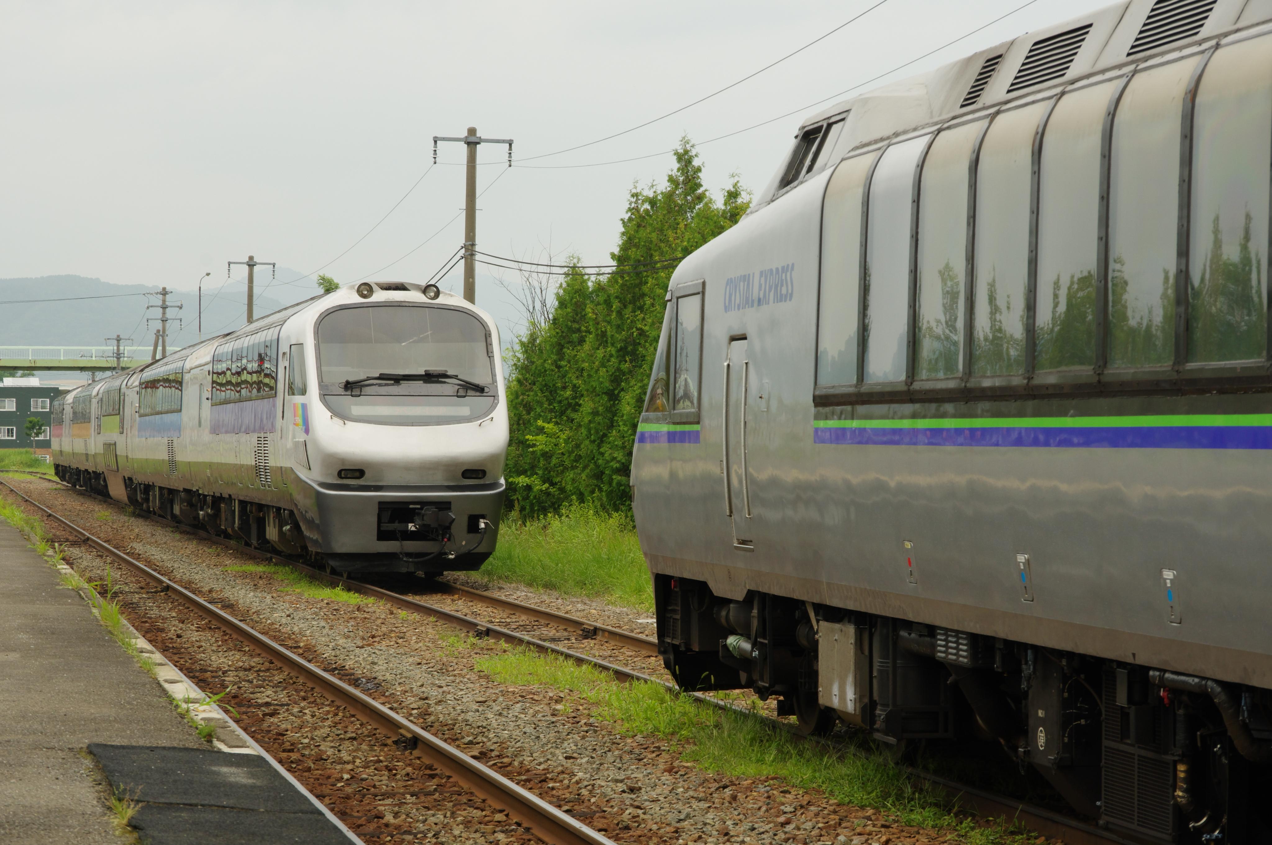 富良野駅 ノースレインボーエクスプレス&クリスタルエクスプレス_180721.jpg