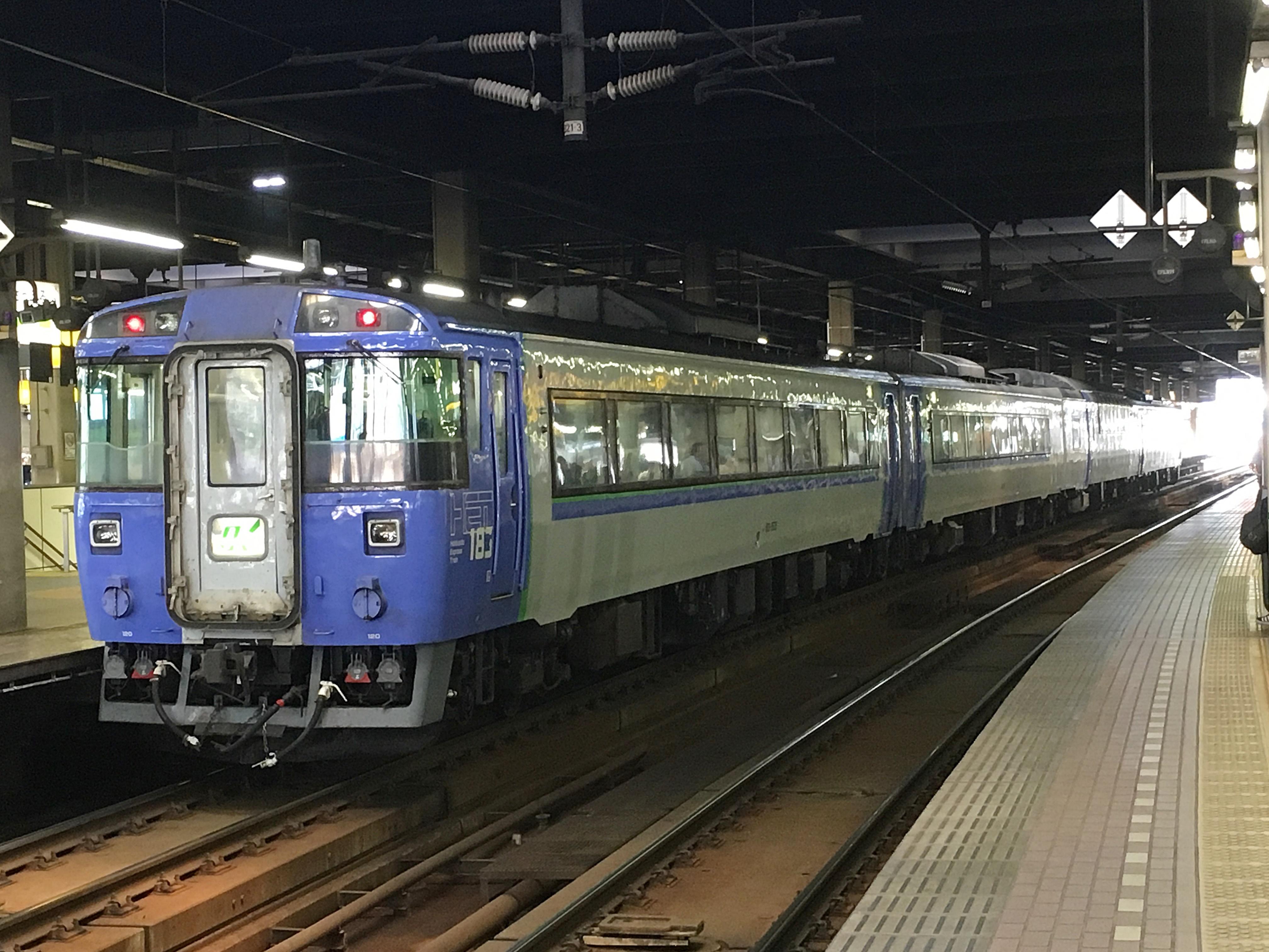 札幌駅 オホーツク2号バック_180714.JPG