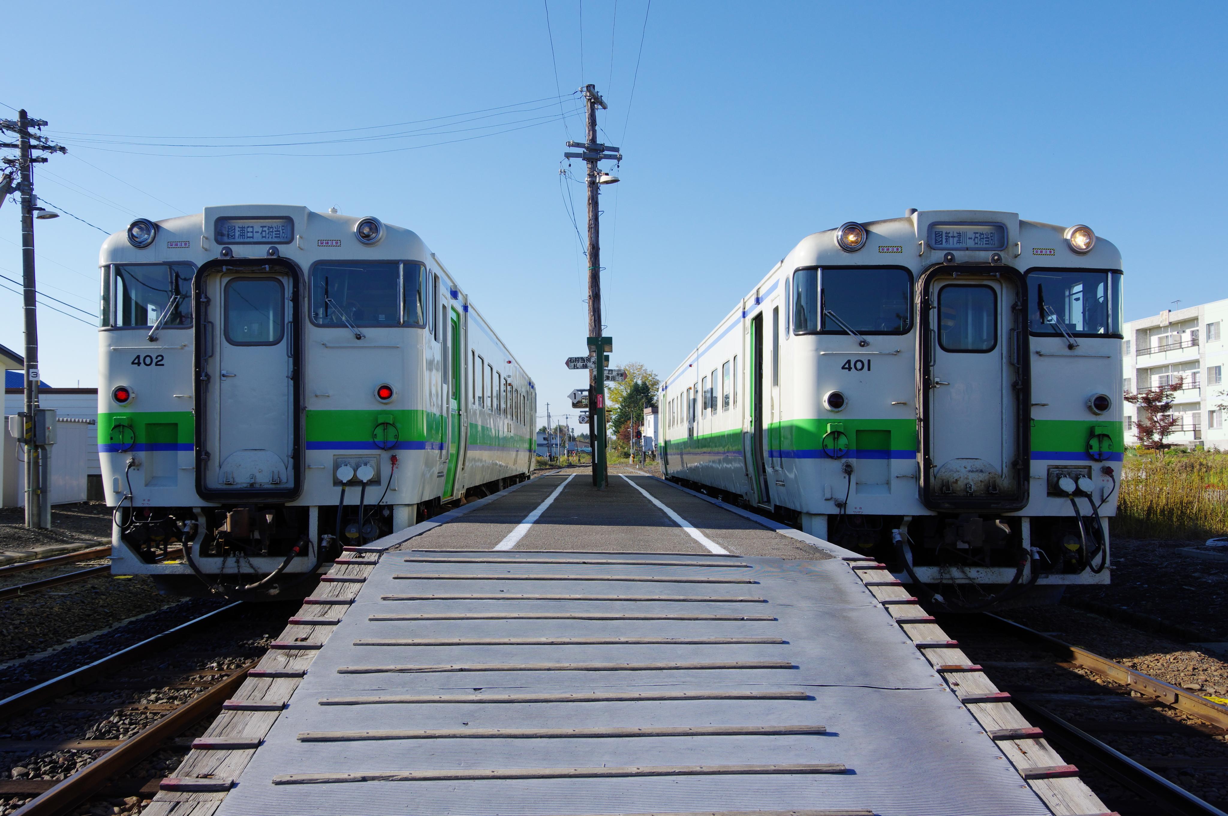 石狩月形駅 キハ40 401+402_181014.jpg