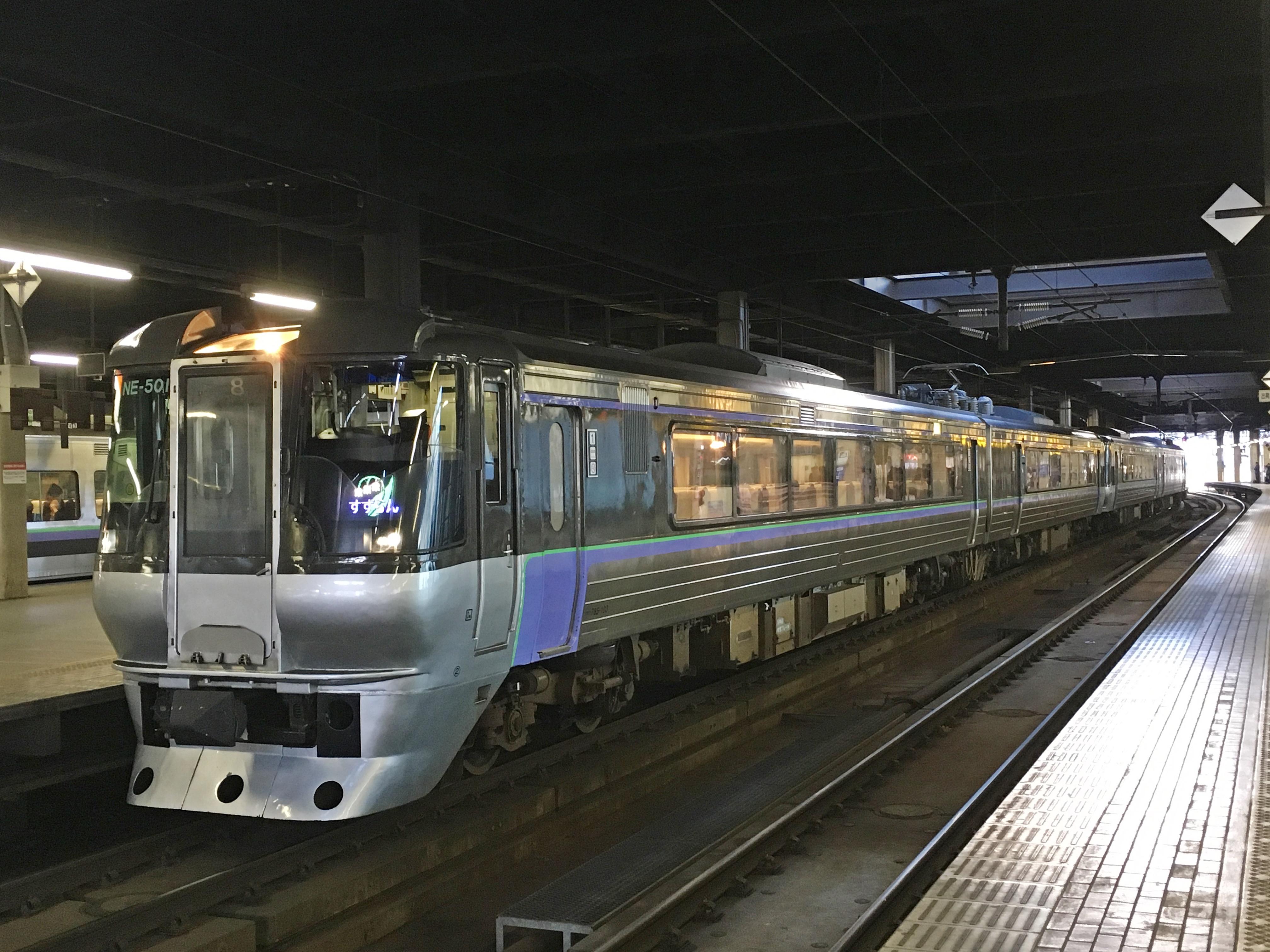 785系 特急すずらん6号 すずらん表示 札幌駅_181115.JPG