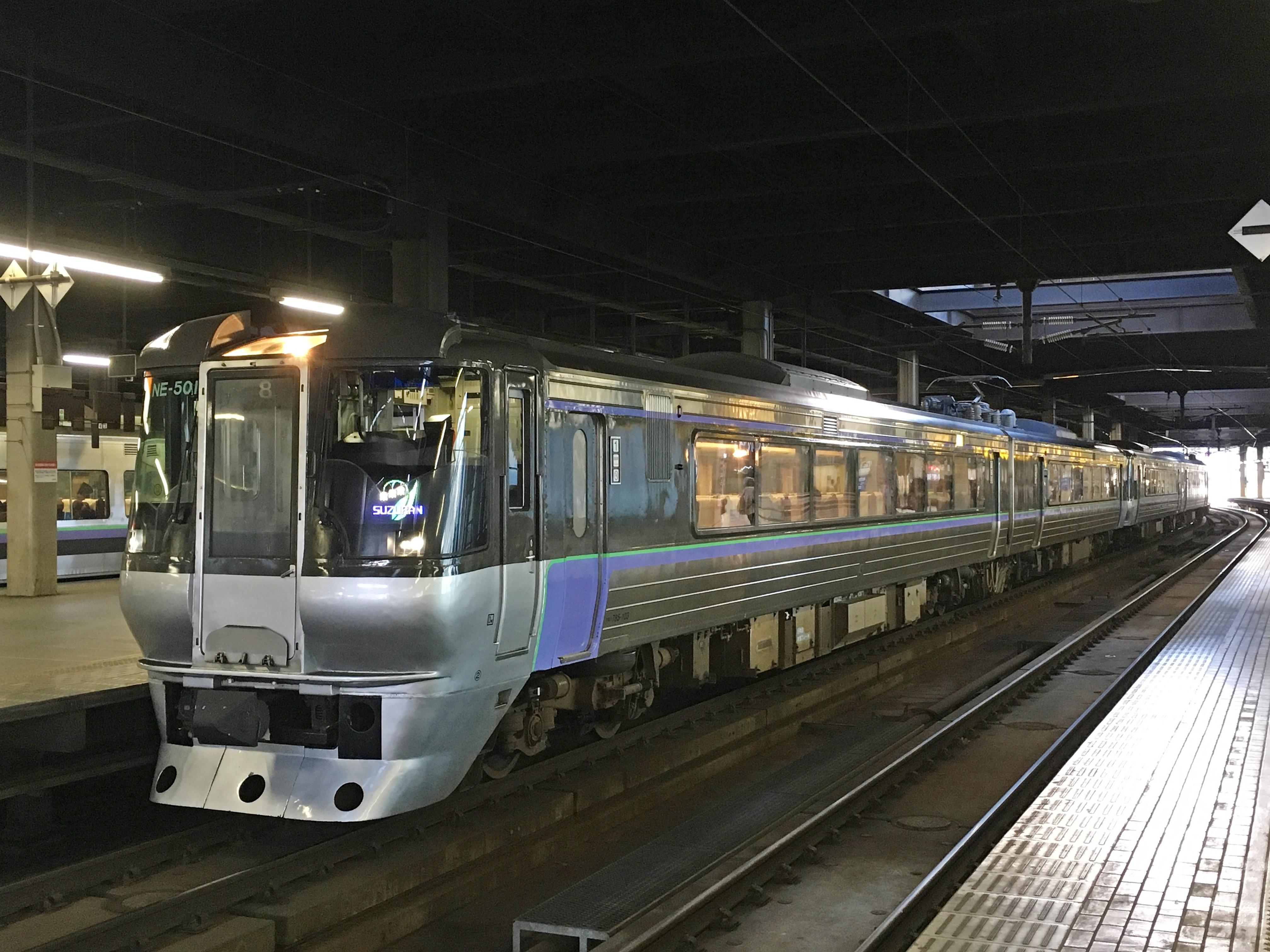 785系 特急すずらん6号 SUZURAN表示 札幌駅_181115.JPG