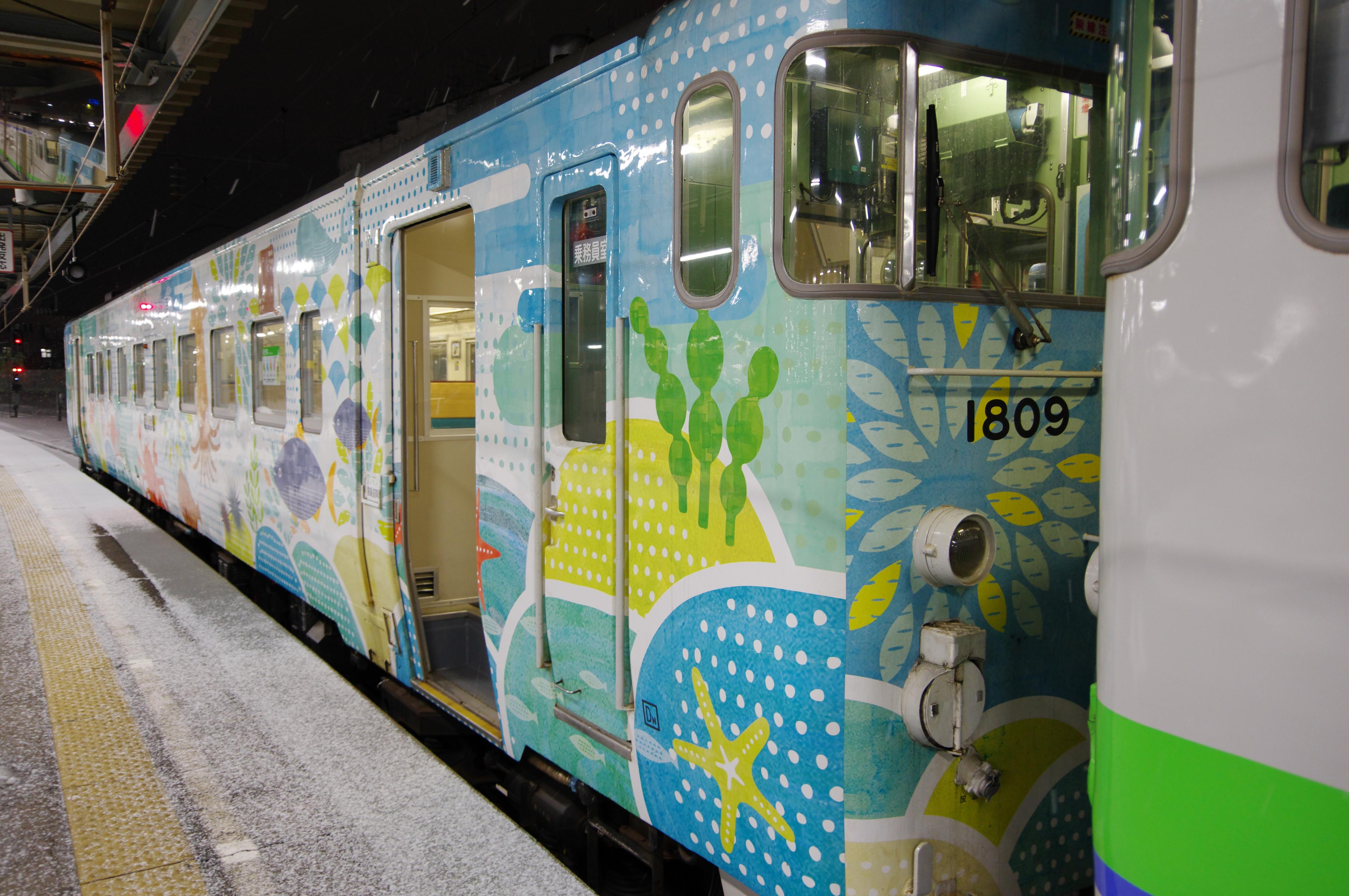キハ40 海の恵み号 連結 5887D 函館駅_190120.jpg