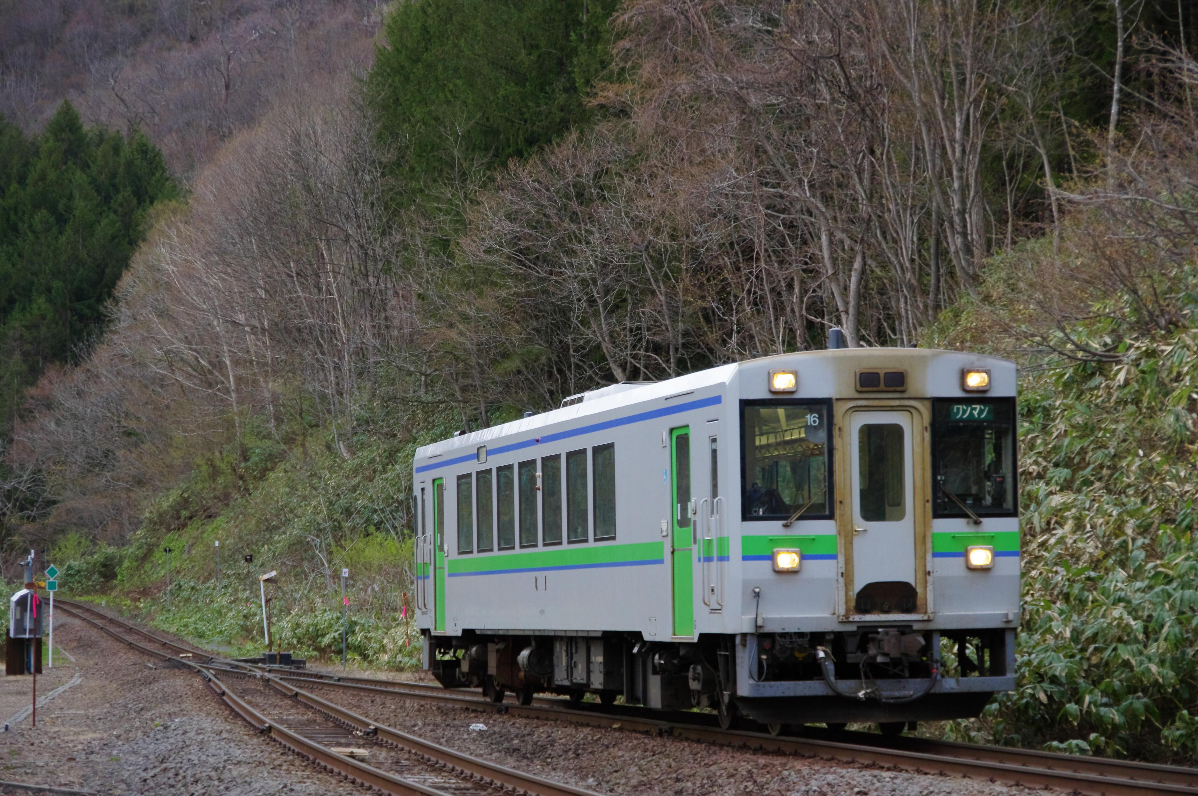 キハ150 1921D 銀山駅入線 令和始発列車_190501.jpg