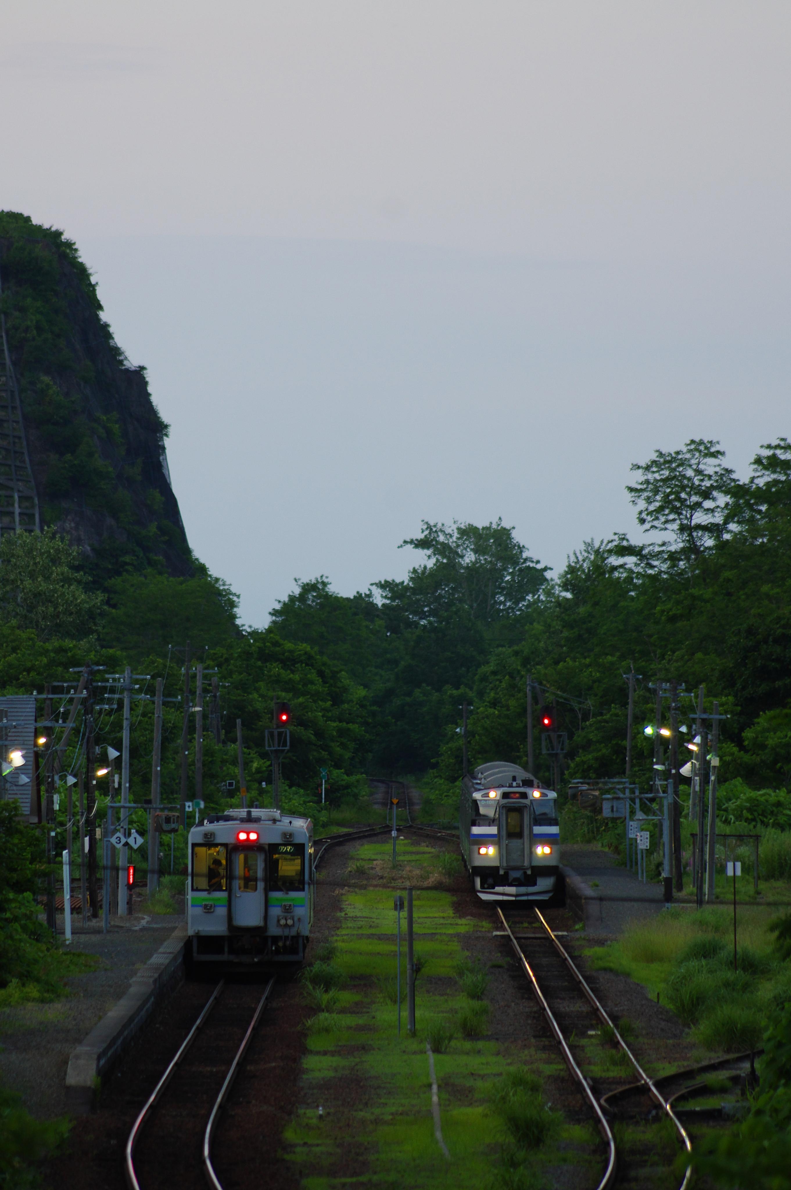 3954D & 2953D 然別駅列車交換_190626.jpg