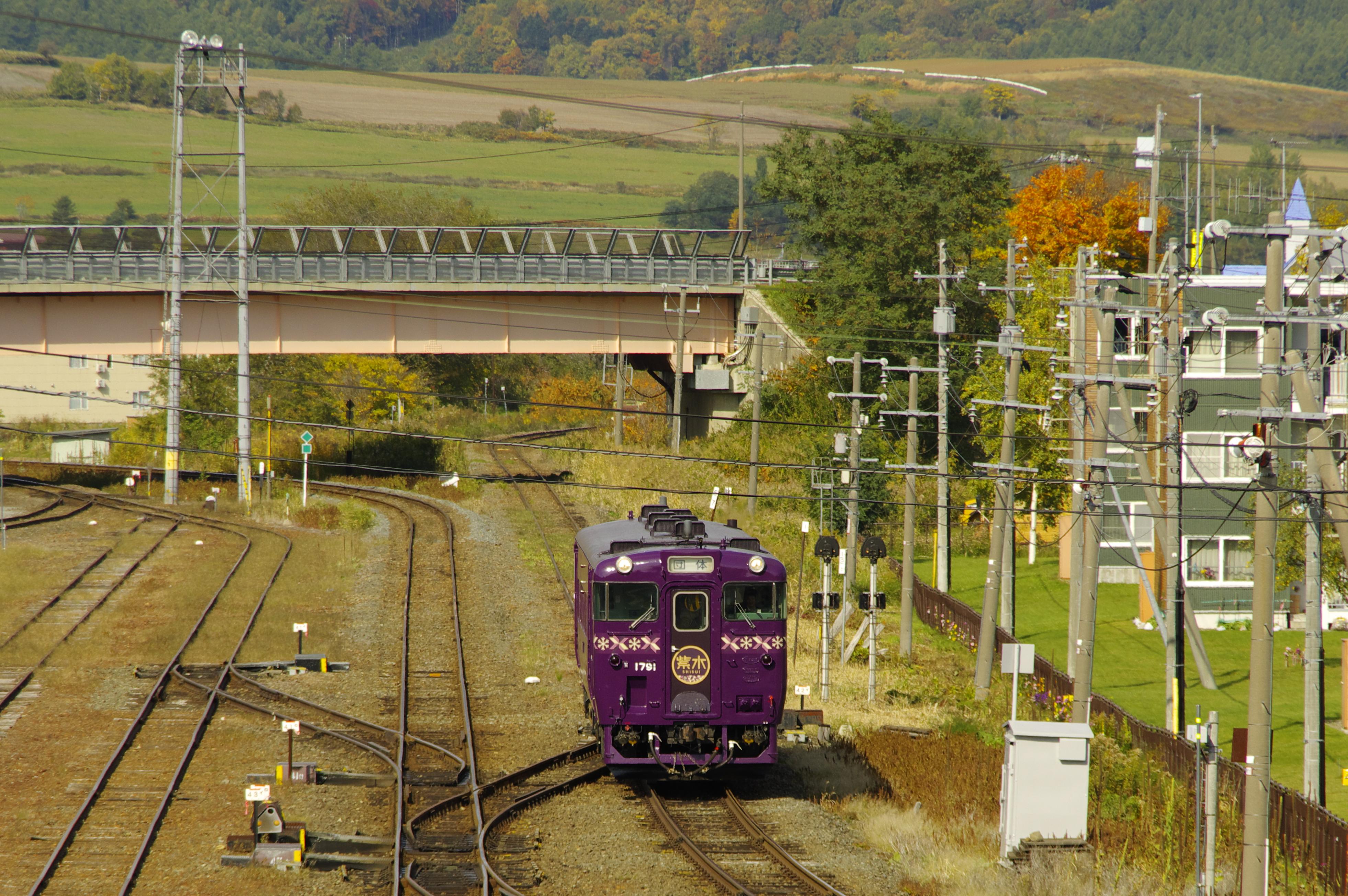 キハ40紫水号 富良野駅入線1 191014.jpg