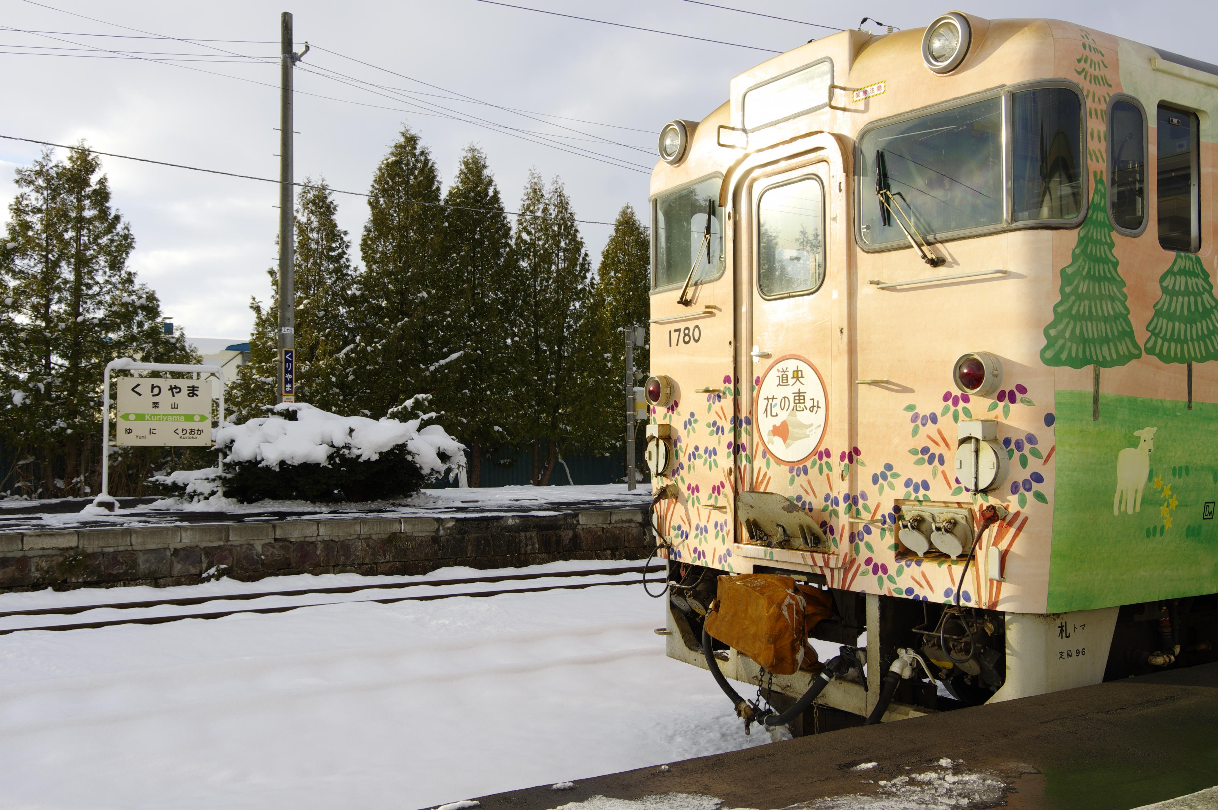 団臨「花の恵み号」で行く室蘭線 栗山駅_191130.jpg