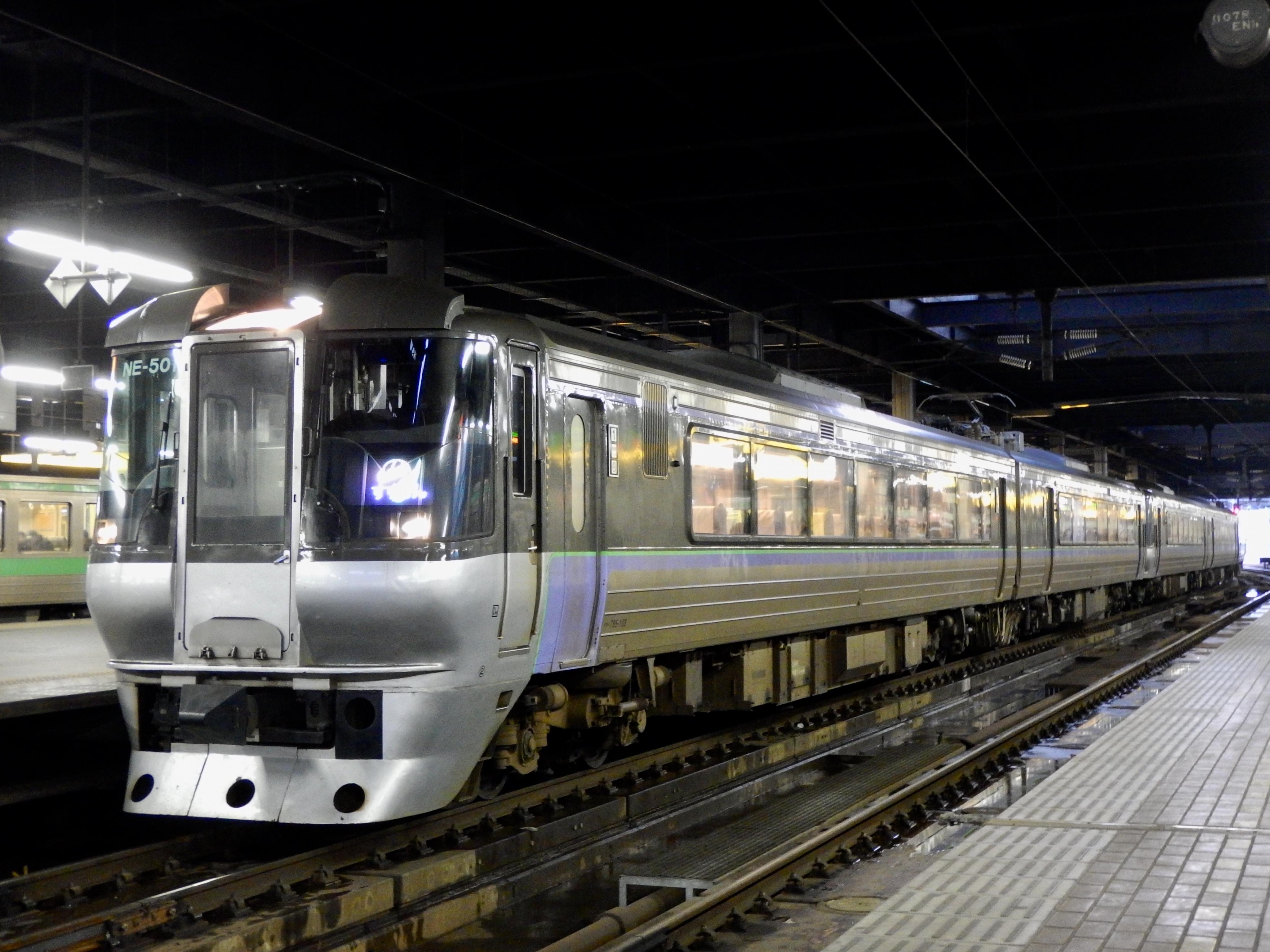 785系 特急すずらん8号 すずらん幕 札幌駅_191210.JPG