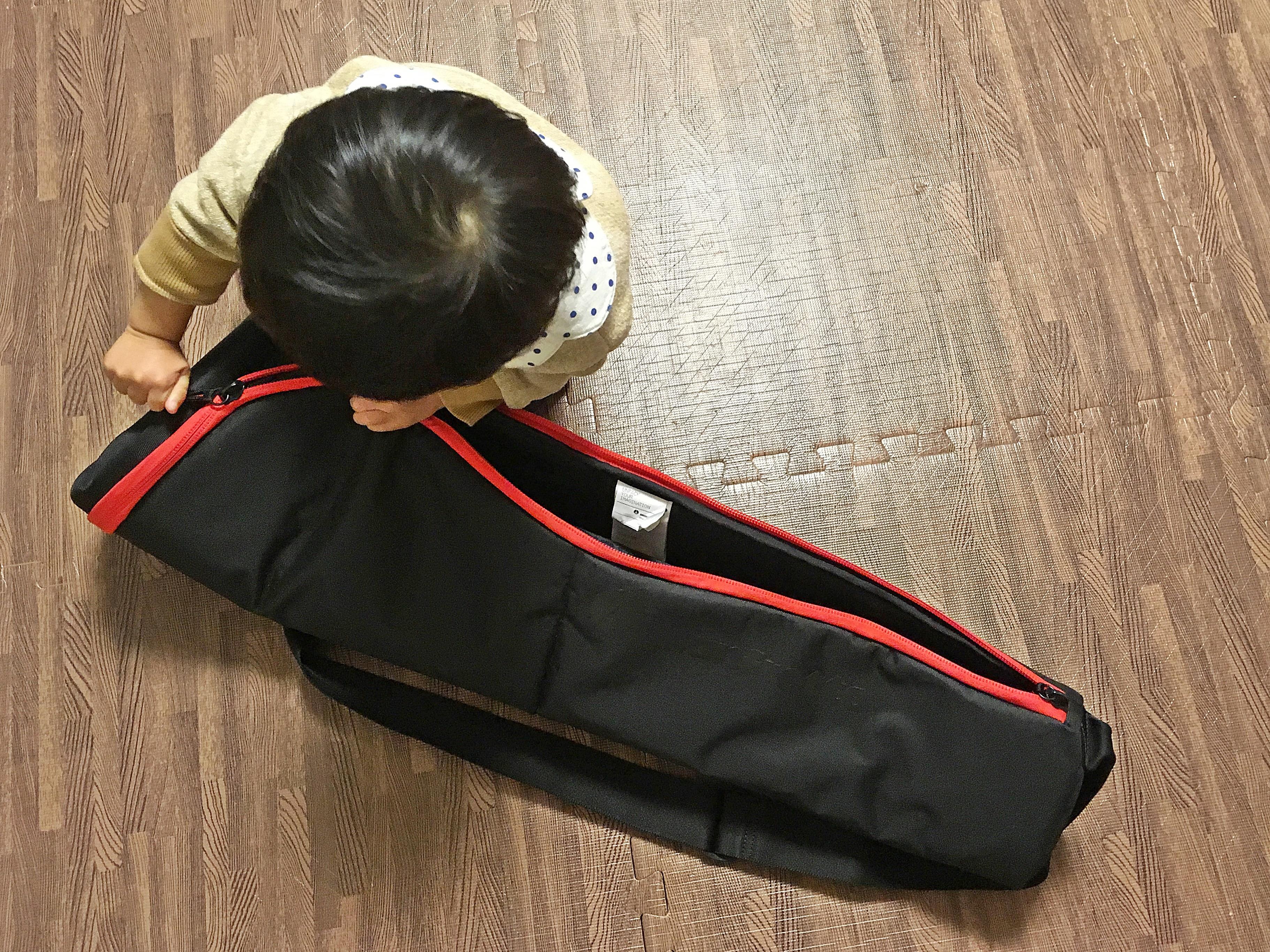 マンフロット パッド付三脚バッグ80cm with 愛息 (1).JPG