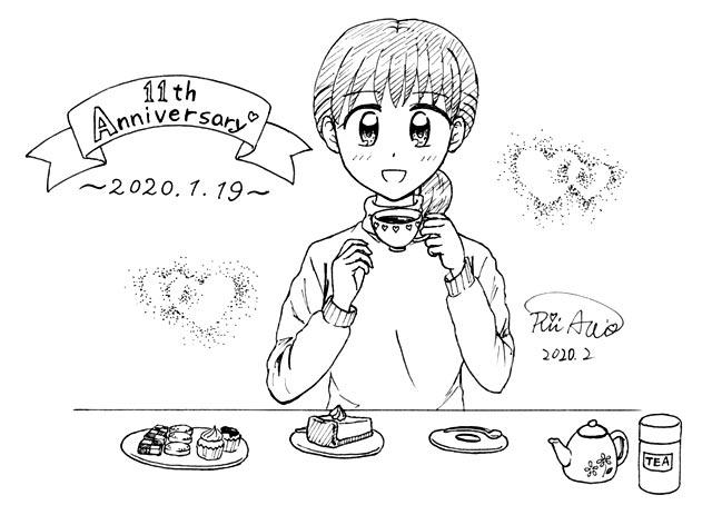 サイト11周年記念落書き。ティータイム