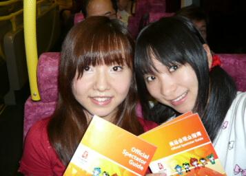 北京オリンピック帰りのバスでございます!