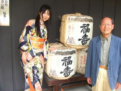 安福社長と記念写真