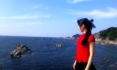 福井の海にて