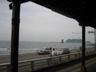 江ノ島が見えます
