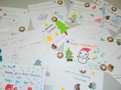 クリスマス カード 例文 英語