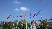京セラの旗。