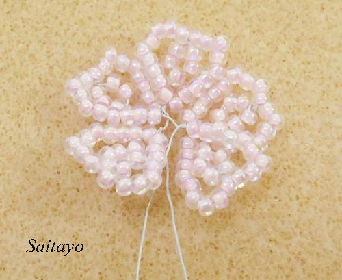 ビーズフラワー桜の無料レシピ